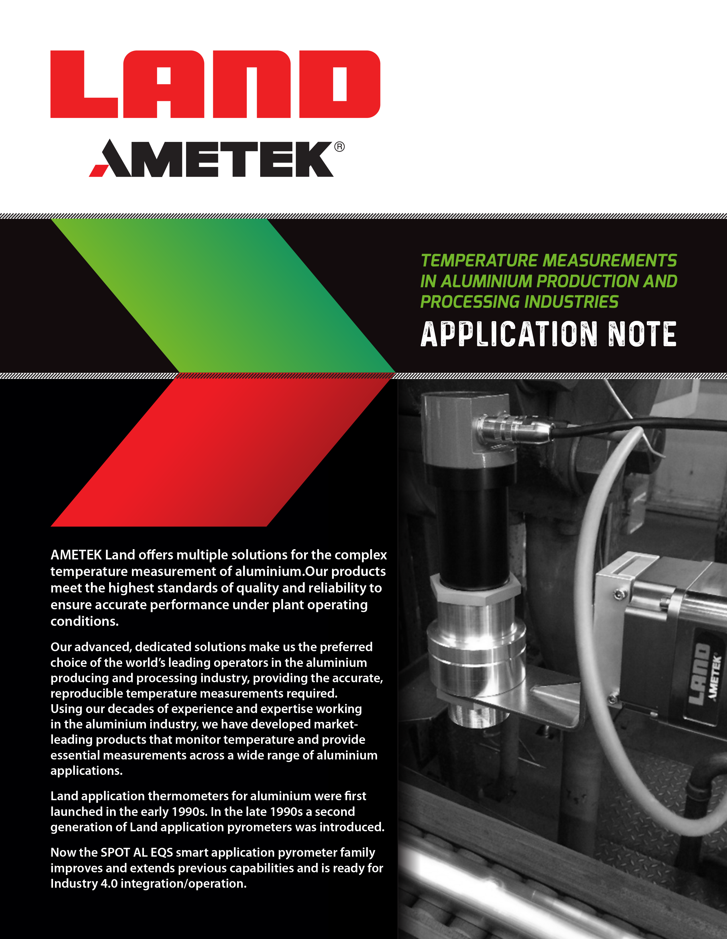 Temperature Measurements in Aluminium Production and Processing Industries – Application Note