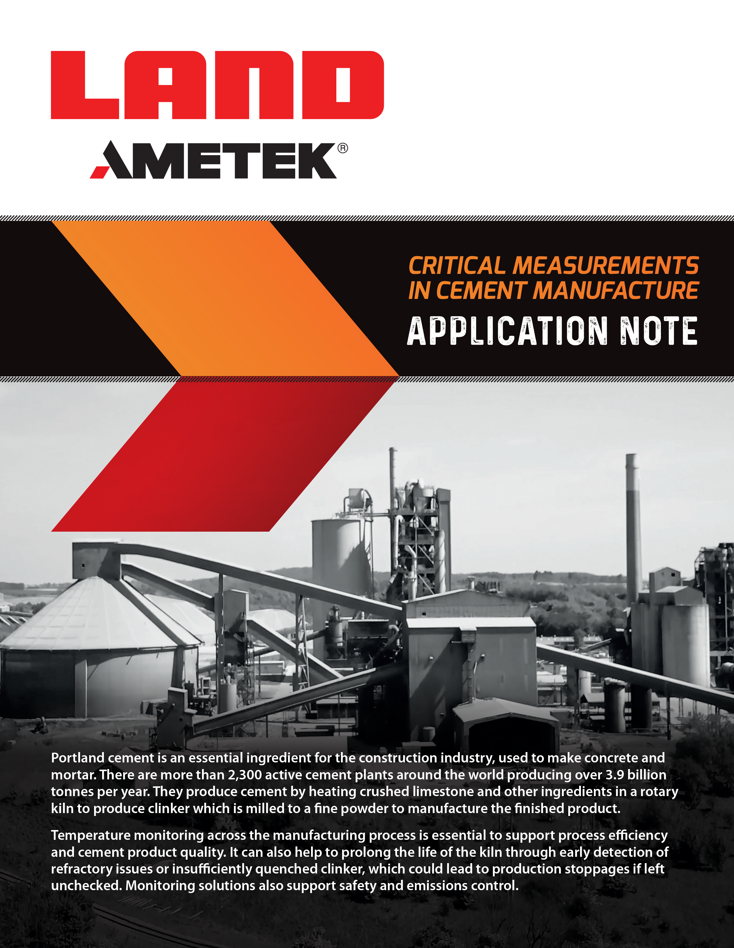 Application Note - Critical Measurement in Cement Manufacture