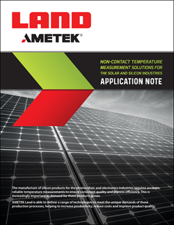 Non-Contact Temperature Measurement Solutions for the Solar And Silicon Industries – Application Note