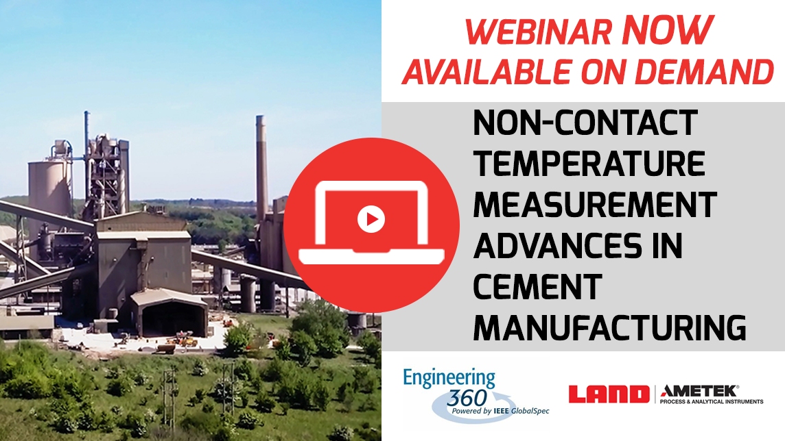 Non-contact temperature measurement advances in cement manufacturing Now available on Demand