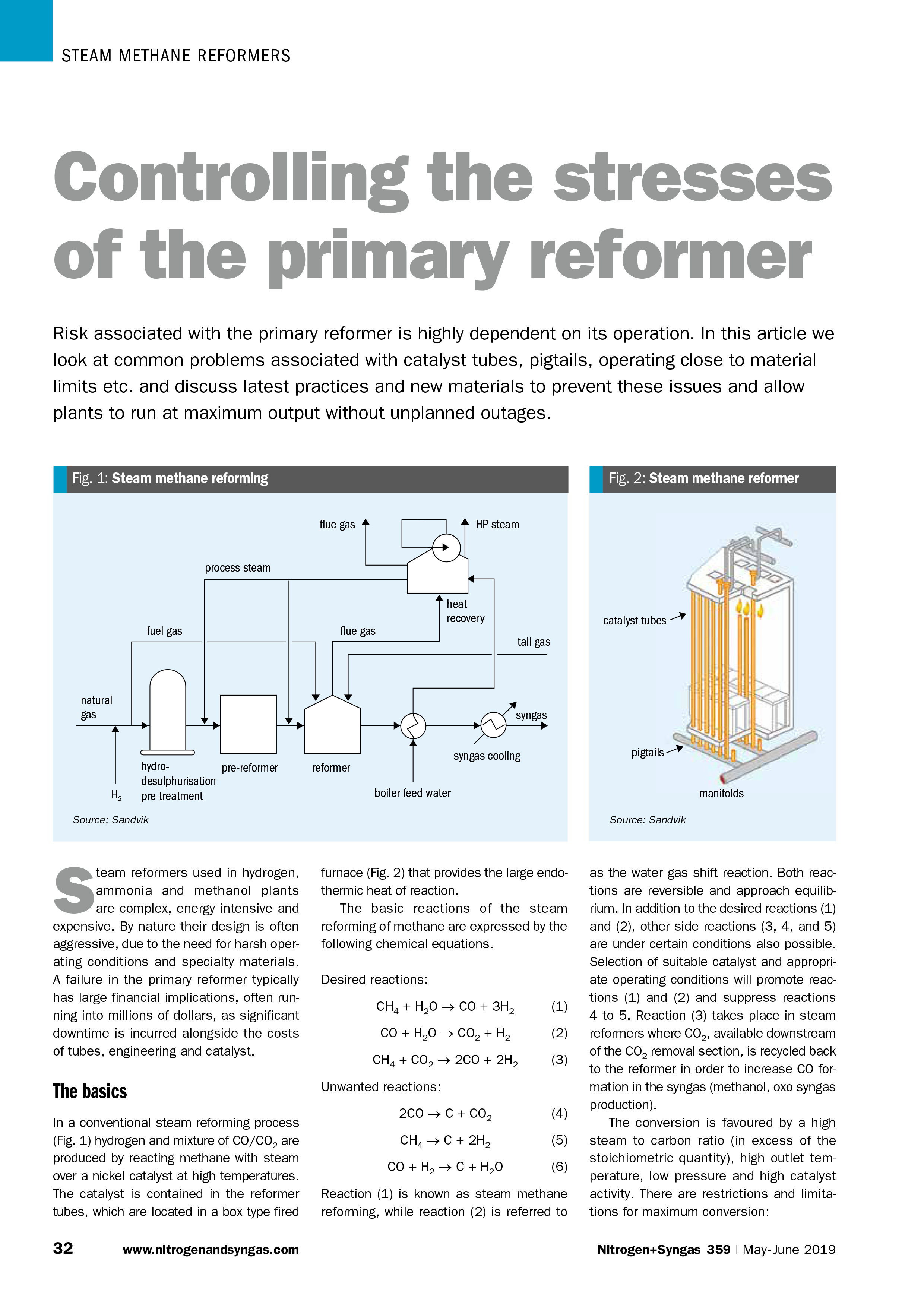 Nitrogen+Syngas Article - Controlling the stresses of the primary reformer
