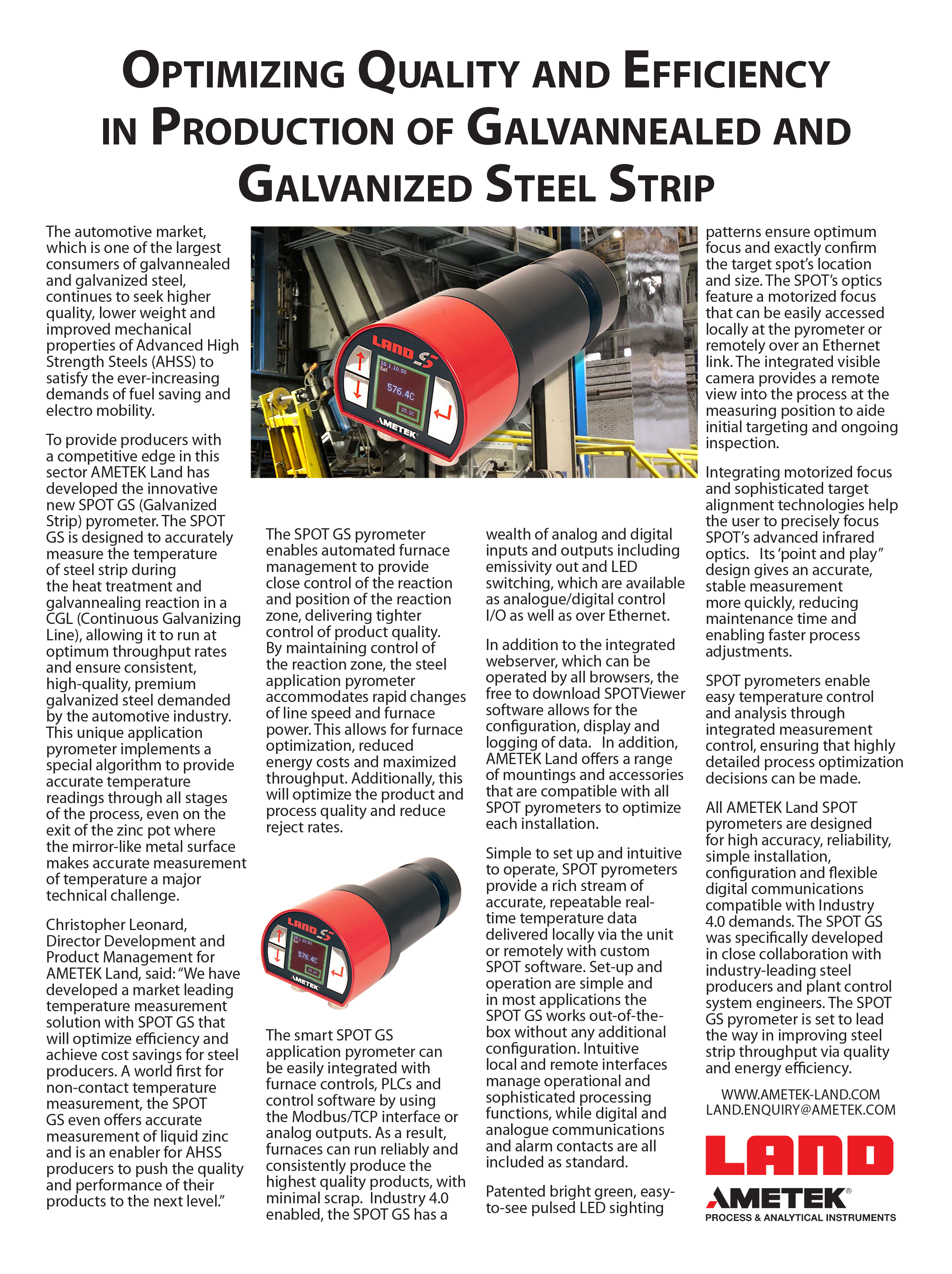 Optimizing Quality and Efficiency in Production of Galvannealed and Galvanized Steel Strip