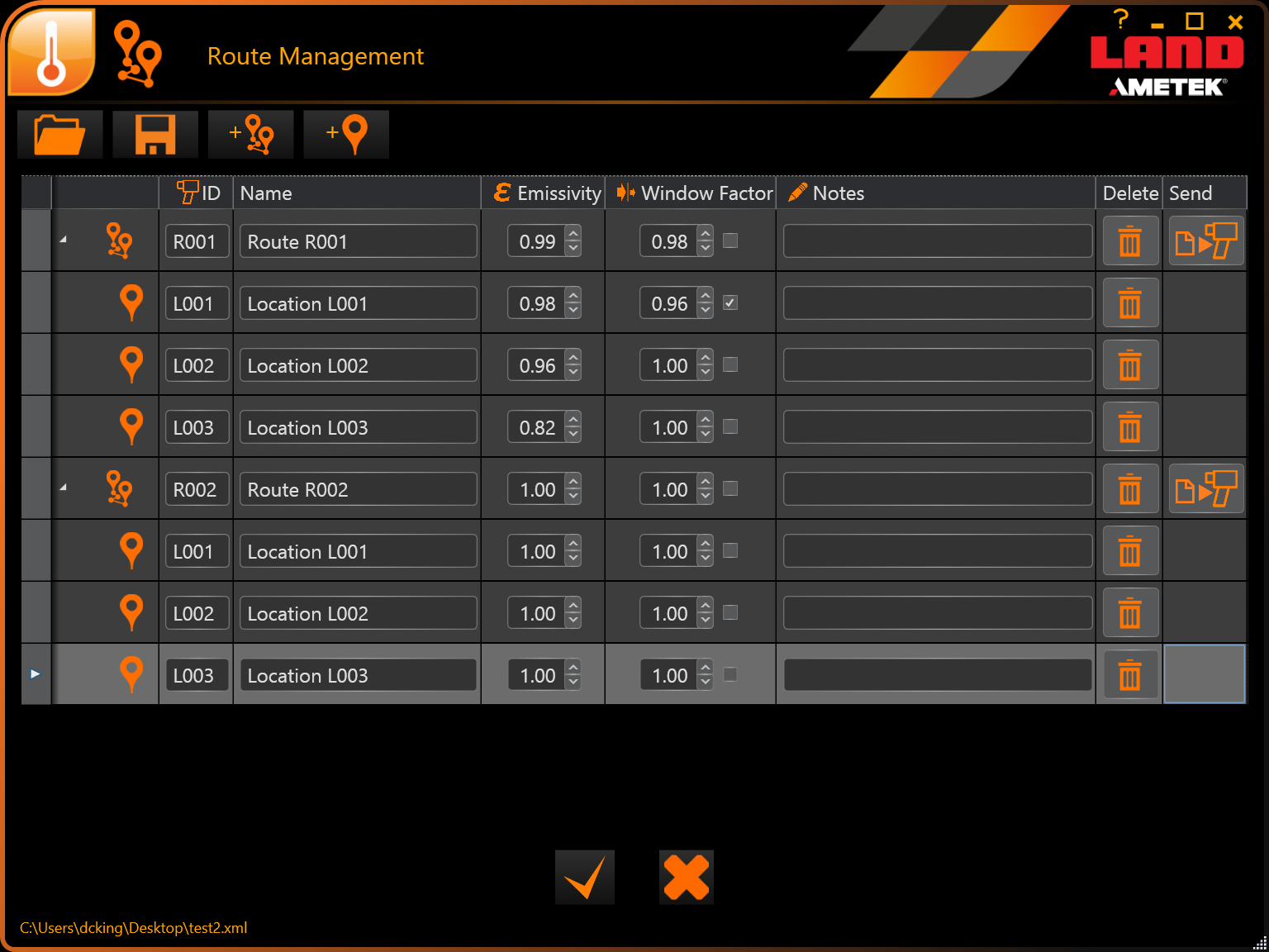 Cyclops Logger PC Route Management